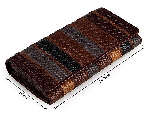 H&W Donna Moda Design Ricamo Pelle Portafoglio Stile #3 Style #3