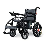 Teng Peng Silla de Ruedas eléctrica Plegable Ligero Anciano Inhabilitado Inteligente Automático Batería de Litio de Cuatro Ruedas Scooter de Carga 150 kg, Potencia 250W && (Color : Lithium Battery)