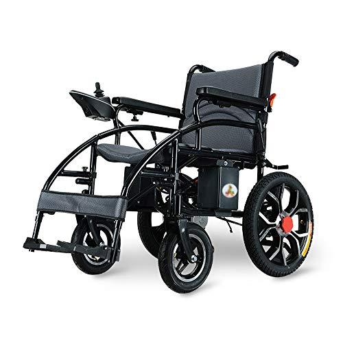 XiuHUa Rollstuhl, behinderter elektrischer Elektrorollstuhl mit vier Rädern, zusammenklappbarer, tragbarer intelligenter automatischer Roller mit Power 250W (Rollstuhl für Liebe, Pflege von Menschen m - Roller 3-rad-power
