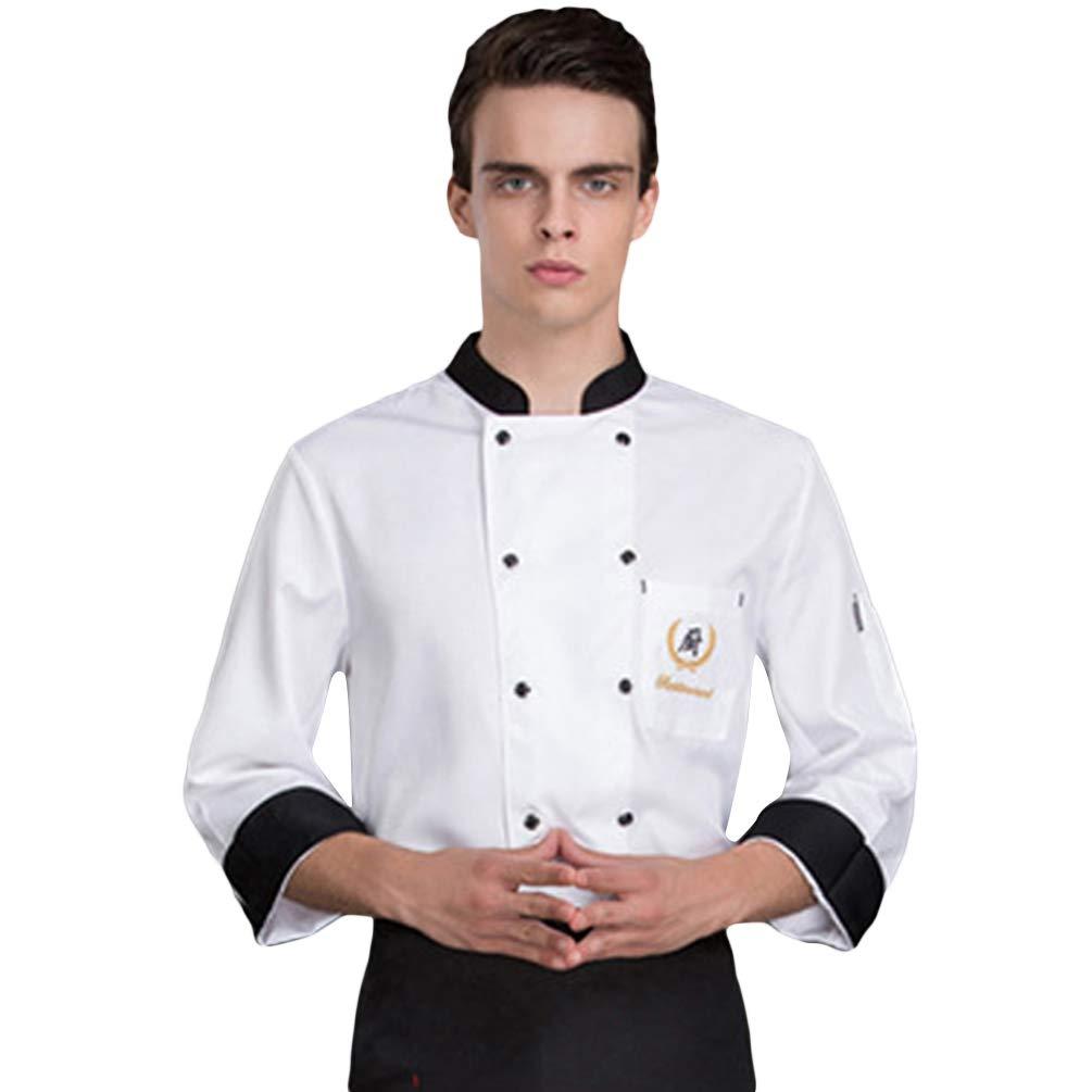 Dooxii Unisex Donna Uomo Autunno Manica Lunga Giacca da Chef Traspirante Professionale  Torta di Cottura Hotel 1c085f3a2ab8