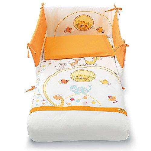 Pali Spa Zenzero - Kit de cuna con 3 piezas, color naranja