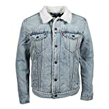 Levis Type 3 Sherpa Trucker Jacket Stone Blue M