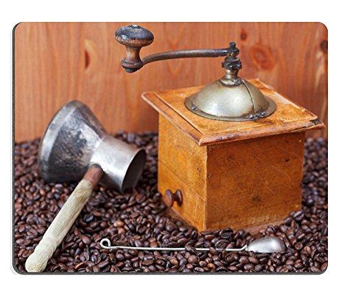 luxlady Gaming Mousepad imagen ID: 24414441Retro manual molinillo de café cobre Pot Cuchara en muchos Tostado granos de café