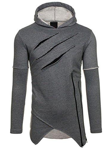 BOLF – Sweat-shirt – Manches longues – Fermeture éclair – BREEZY 9097 – Homme Anthracite