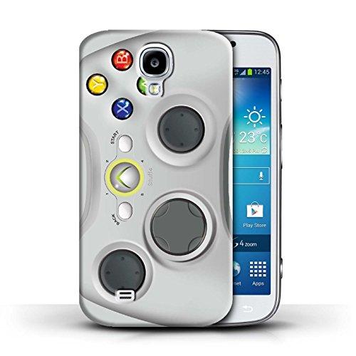 Imprimé Protector Cover / Case / Coque / Etui pour Samsung Galaxy S4/SIV / Blanc Xbox 360 motif / Console (jeux vidéo) collection