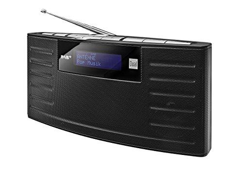 Dual DAB 15 Digitalradio mit integriertem Akku (DAB(+)/UKW-Radio, Senderspeicherfunktion, Kopfhöreranschluss, Stereoklang) schwarz