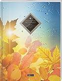 """TULPE Kariertes Notizbuch A4 """"C095 Herbstlich"""" (140+ Seiten, Vintage Softcover, Doppelrand, Seitenzahlen, Register - Dickes Notizheft, Matheheft, ... Schulheft, Tagebuch, Kariertes Heft Nr 26)"""