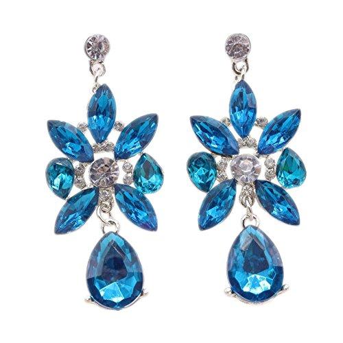 JunBo Edler Luxus Ohrring Kristall Zirkon Ohrringe Mode übertrieben Kristall Ohrringe