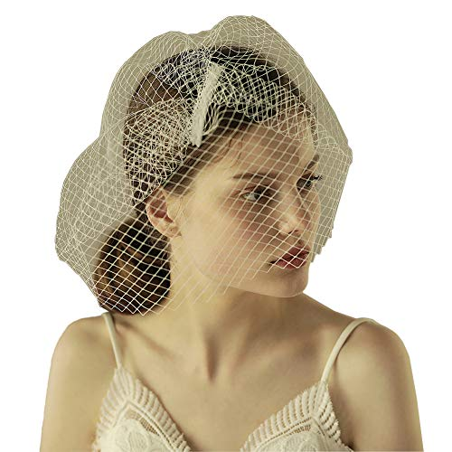Fascinators Elegant Kopfbedeckung Mesh Hochzeitskirche Haarschmuck Braut Haar Schleier Perlen Cocktail Haarreif TeaParty Karneval Haar Clip Accessoires Hochzeitszubehör Damen Mädchen Mini Hut