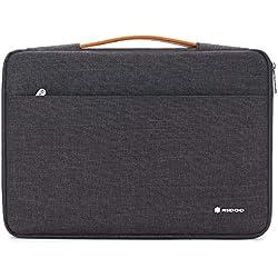 "NIDOO 14 Pouces Housse Ordinateur Portable Sac à main pour 14"" Lenovo Chromebook S330 / Lenovo ThinkPad A485 E485 E490 T480s / HP ProBook 645 G4 /Acer Swift 5 7/15.6"" Lenovo Thinkpad T590, Gris foncé`"