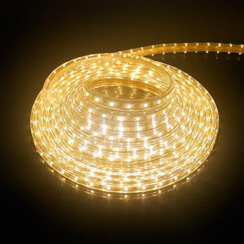 5M LED Streifen Strip IP65 Wasserdicht Aussen SMD 3528 Lichterkette Warmweiß Flexibel Leiste 60 LEDs/M