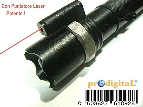 CREE LED Lampe torche tactique militaire avec viseur Faisceau Lumière Lumineux Viseur Rouge Pointeur laser lumens Xenon rechargeable complet