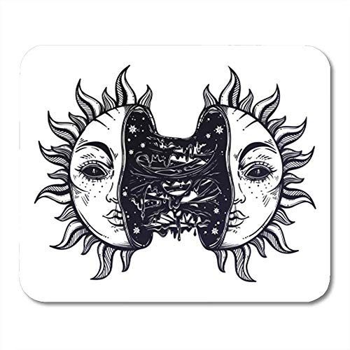 AOCCK Tappetini per Il Mouse, Sun Broken in Two Half Open And Full of Slime Goo Decadence Eclipse Creepy Sci 11.8'x 9.8' Decor Office Computer Accessories Nonslip Rubber Backing Mousepad Mouse Mat