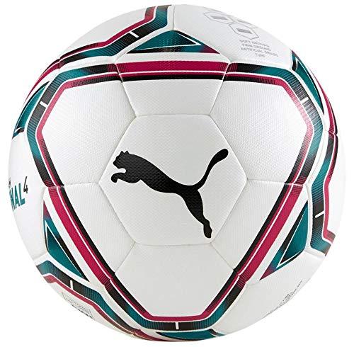 PUMA teamFINAL 21.4 IMS Hybrid Ball Size 4 Balón de Fútbol, Unisex-Adult, White-Rose Red-Ocean Depths...