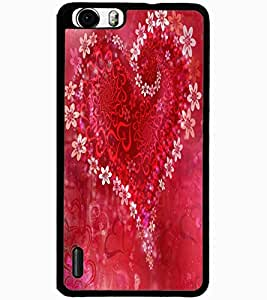 ColourCraft Love Creative Heart Design Back Case Cover for HUAWEI HONOR 6 PLUS