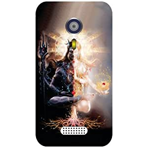 Micromax A116 Canvas HD Phone Cover-Lord Shiv Matte Finish Phone Cover