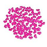 BESTOYARD 100 pz Seta Artificiale Petali di Rosa Decorazione Petalo di Rosa Confetti da tavola sparge coriandoli per Matrimonio San Valentino (Rosy)