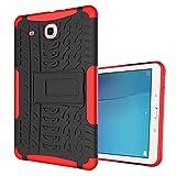 Tablette Samsung Galaxy Tab E 9.6' SM-T560 Etui, KATUMO Coque Silicone Housse Protection pour Samsung Galaxy Tab E 9,6 pouces Pochette Etui-Rouge