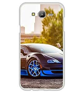 Luxury Blue Car 2D Hard Polycarbonate Designer Back Case Cover for Samsung Galaxy E5 (2015) :: Samsung Galaxy E5 Duos :: Samsung Galaxy E5 E500F E500H E500HQ E500M E500F/DS E500H/DS E500M/DS