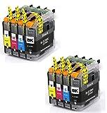 8 Druckerpatronen mit Chip Kompatibel zu Brother LC223 für MFC-J5320DW DCP-J4120DW MFC-J480DW MFC-J5720DW MFC-J5625DW MFC-J4620DW MFC-J4420DW MFC-J880DW MFC-J4625DW DCP-J562DW MFC-J5620DW MFC-J680DW