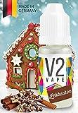 V2 Vape E-Liquid Lebkuchen gebrauchsfertig - Made in DE 0mg nikotinfrei - 10ml