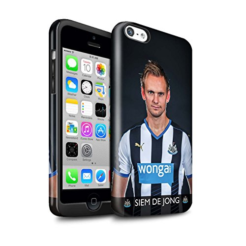 Officiel Newcastle United FC Coque / Brillant Robuste Antichoc Etui pour Apple iPhone 5C / Pack 25pcs Design / NUFC Joueur Football 15/16 Collection De Jong