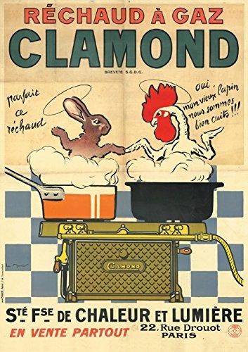 Carnet ligné Affiche Réchaud à gaz Clamond