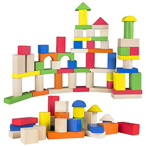 ColorBaby - Juego de 100 bloques de madera (40993)