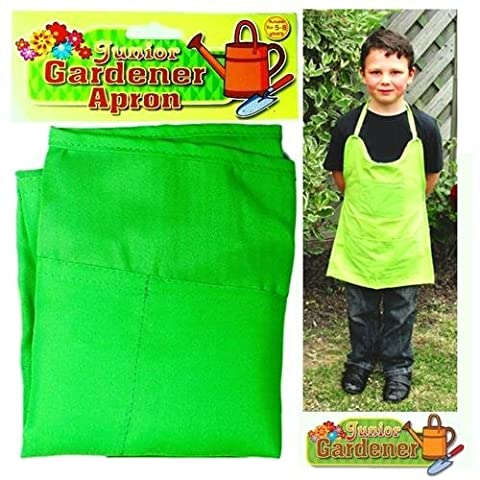 Junior Gardener Apron Green Mini Children's Pockets Boys