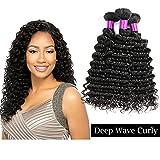 """deep wave brésilienne tissage lisse lot humains 3 piéces cheveux malaisie lisse naturel 3 bundles cheveux humain peruvien 300g 10"""" 12"""" 14"""""""