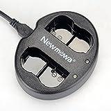 Newmowa Chargeur USB Double pour Nikon EN-EL15 et Nikon 1 V1, D600, D610, D800, D800E, D810, D7000, D7100