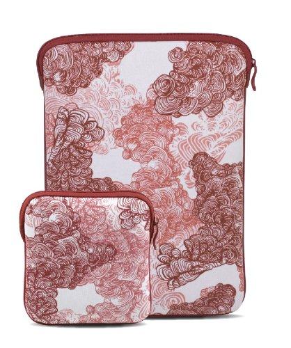 Be.ez La Robe MBA Opium + superdrive Schutzhülle/Sleeve für MacBook Air, Rot/Weiß