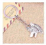 LUOSI 20pcs Art und Weise Keychain 35x30mm Wolf Hund Wolfshund Anhänger Männer Schmuck Auto-Schlüsselketten-Ring-Halter-Souvenir for Geschenk (Color : Model 2)