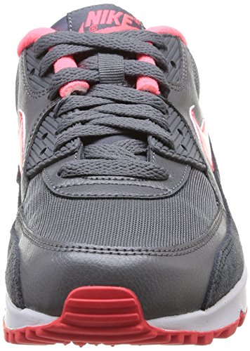 Nike Air Max 90 Essential, Baskets mode femme Multicolore (Drk Gry/Hypr Pnch-Actn Rd-Anth)