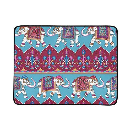 KAOROU Elefantes Indios Tradicionales portátil y Plegable Manta de la Manta 60x78...