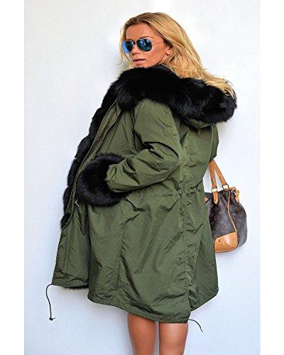 bc931d716c6 Roiii Ladies Winter Warm Thick Faux Fur Coat Hood Parka Long Jacket ...