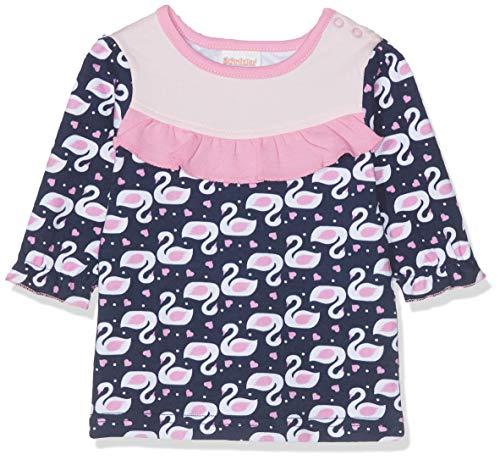 Schnizler Baby-Mädchen Sweat-Shirt Schwäne Langarmshirt, Blau (Marine 11), (Herstellergröße: 56)