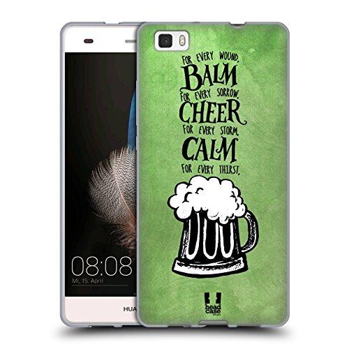 Head Case Designs Birra Irish Craic Cover Morbida In Gel Per Huawei P8lite / ALE-L21 - Irish Ale