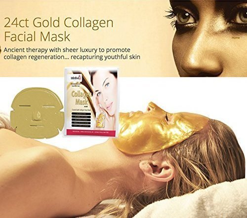 Anti Falten COLLAGEN Gesichtsmaske mit kolloidalem Gold - by BLISSANY zur Regeneration der Gesichtshaut, Anti Aging Maske, feuchtigkeitsspendend Kollagen Maske (5)