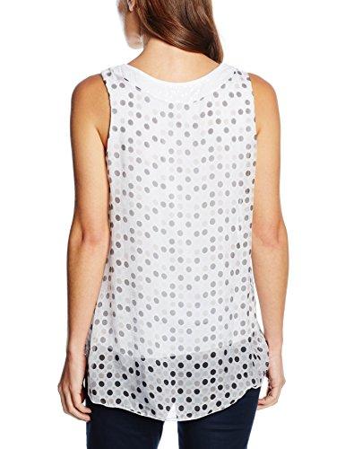 Zabaione Top Punkte Pailetten, Blouse Femme Blanc - Weiß (white 10001)