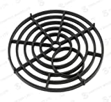 "Black Round 7"" 175mm Heavy Duty Plastic Drain Grate Gully Grid Cover"