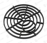 Ablaufgitter, schwarz, rund, 175mm, robust, Kunststoff, Ablaufabdeckung