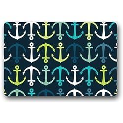 heymat único náutico marina ancla decorativa alfombrillas alfombrillas/baño Decor lavable a máquina alfombra