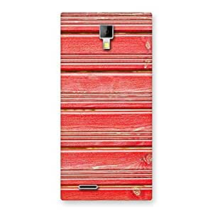 Cute Red Woodlock Print Back Case Cover for Micromax Canvas Xpress A99