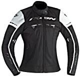 Ixon Blouson Moto Pitrace Lady, Noir/Blanc, Taille XXL