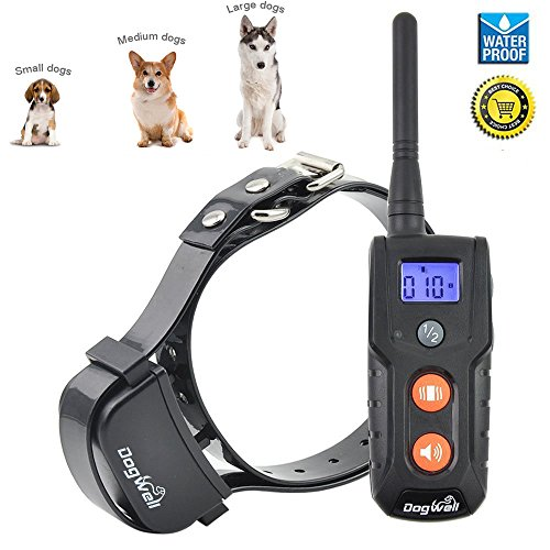 [Aktualisierte Version] Jiuhuazi wasserdicht Kragen 330 Yards Remote Training Hundehalsband mit - Ausbildung Kragen Remote-hund