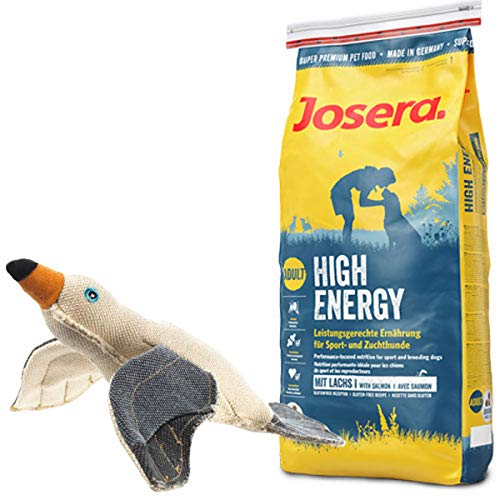 Josera 15 kg High Energy + Hundespielzeug Möwe von Hunter