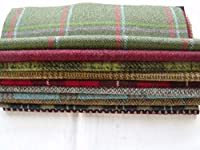 100% Pure Wool Tweed Remnants Offcuts Patchwork Rag Rug Crafts 10 Large Pieces by Huddersfield Fine Fabrics