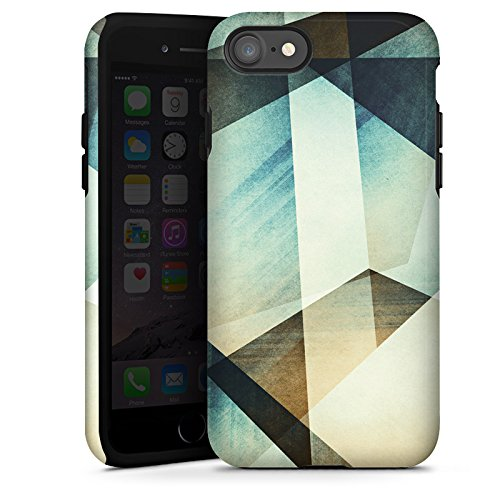 Apple iPhone X Silikon Hülle Case Schutzhülle Muster Grafisch Grün Tough Case glänzend