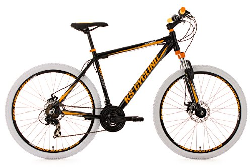 KS Cycling Compound – Bicicleta de montaña, color negro / amarillo / blanco, ruedas 27,5″, cuadro 51 cm